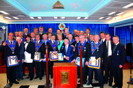 Andrei Muresianu Lodge from NGLR visiting Hashachar Lodge in Israel