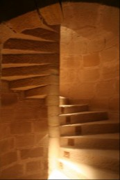 Fig 6 winding staircase Mora s castle